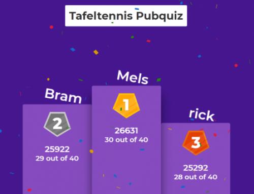 Mels 1e winnaar van succesvolle Pubquiz